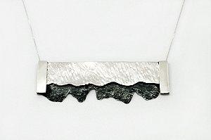 Colar Cracked - Prata 950 e Prata 950 Oxidada