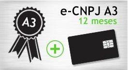 E-CNPJ A3 - SMART - CERTIFICADO 12 MESES