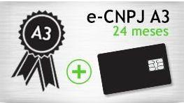 E-CNPJ A3 - SMART - CERTIFICADO 24 MESES