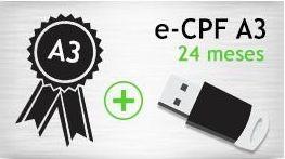 E- CPF A3 - TOKEN - CERTIFICADO 24 MESES
