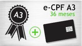 DUPLICADO - E- CPF A3 - SMART - CERTIFICADO 24 MESES