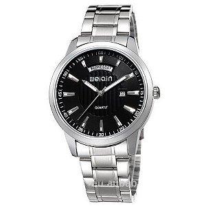 627fc7b1ef8 Relógio Masculino Weiqin Analógico Casual W0090 Prata