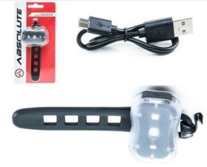 Pisca Sinalizador Led Traseiro Vermelho ou Dianteiro Branco JY7050 Recarregável USB - ABSOLUTE
