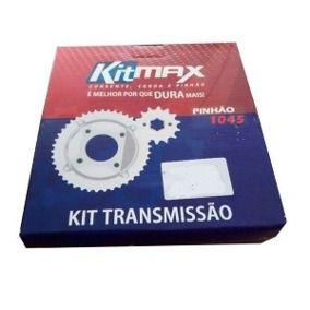 KIT TRANSMISSÃO BIZ125 / POP (34/14/106) C/RET MAX