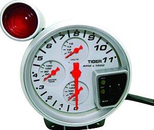 Conta giros 4x1 Rmp temp. Agua, Oleo Voltimetro Shift Light