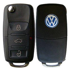 Carcaça Chave VW 3 Botões