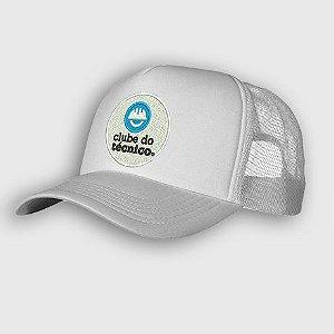 Boné branco exclusivo do Clube do Técnico - logo bordado