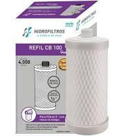 Filtro refil CB100 carbon block 5 rosca - Hidrofiltros