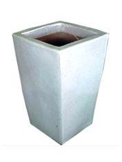Vaso Vietnamita Quadrado Branco