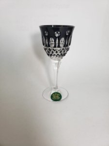 TAÇA LICOR CRISTAL - IMPERATTORE BY STRAUSS - COR PRETA - CX 1 PC