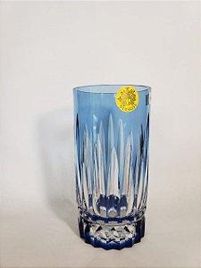 COPO LONG DRINK CRISTAL STRAUSS COR AZUL CLARO  CX 1 PC