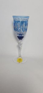 TAÇA LICOR  CRISTAL STRAUSS - COR AZUL CLARO  - CX 1 PC