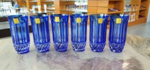 COPO LONG DRINK CRISTAL STRAUSS COR AZUL CX 6 PCS