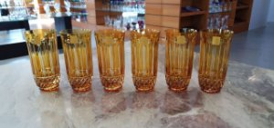 COPO LONG DRINK CRISTAL STRAUSS - COR AMARELA - CX 6 PCS