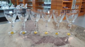 TAÇA BURGUNDY CRISTAL  STRAUSS - CX 6 PCS