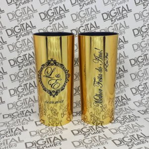 Copos Metalizados Para Casamento Long Drink 350ML Cx C/10 Unidades