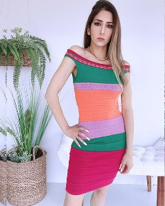 Vestido Tricot Color (Modal) - BLJ