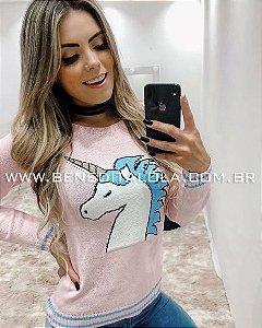 Blusa Tricot Unicórnio Inverno 2019 -CE