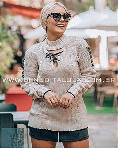 Blusa Feminina Tricot  Detalhes Inverno 2019 -KP