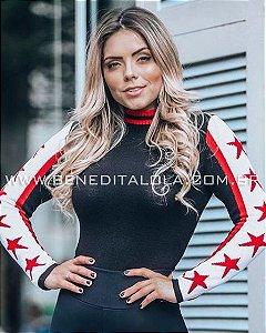 Blusa Tricot Feminina Estrelas Inverno 2019 -SK