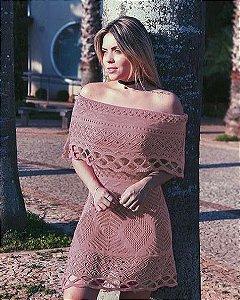 Vestido Tricot Ciganinha Romance Praiano Verão 2020 -KY