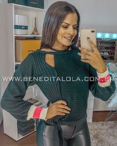Blusa Tricot Feminina Amarrar Kelly Inverno 2019