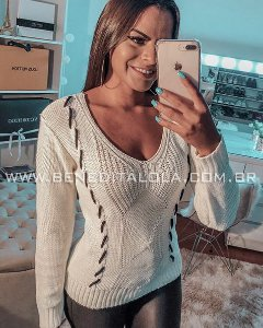 Blusa Tricot Feminina Verticy Inverno 2019 -KP