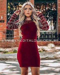 Vestido Tricot Modal Liberdade Detalhes Lurex Inverno 2019 -MD