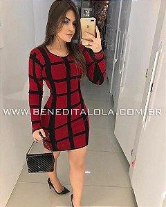 Vestido tricot Modal Brenda Inverno 2019 - MD