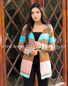 Cardigan Tricot Colors Inverno 2019 - SK