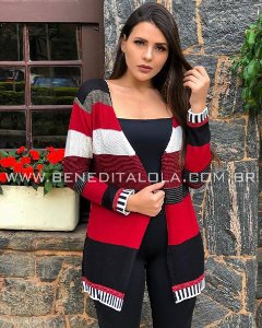 Cardigan Tricot Colors Inverno 2020 - SK 1047