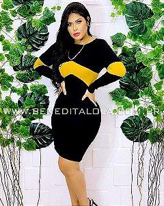 Vestido Tricot Modal Detalhe Faixa Inverno 2019- MD