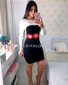 Vestido Tricot Modal Furos Inverno 2019 -MD