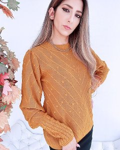 Blusa Tricot Manga Trançada - ALQ
