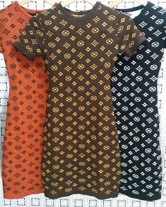 Vestido Tricot Modal Louis Vuitton Inspired Verão 2020 -KW