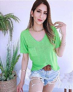 T-shirt Tricot Bolsinho - BLR