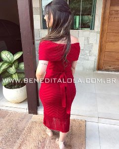 Vestido Tricot Ciganinha Ombro a Ombro Amarração Verão 2020- AL