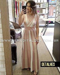 Vestido Longo Tricot com Briho Lurex- Fests Verão 2020- MD