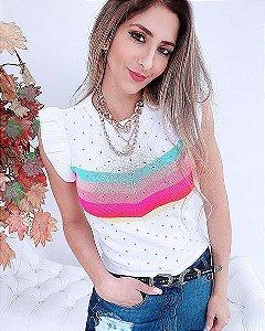 Blusa Tricot Arco-íris (Modal)  - GU