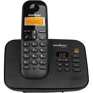Telefone Sem Fio  com Secretária TS 3130 preto - Intelbras