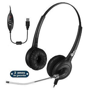 Headset Premium FP 360 USB Voip Biauricular ou Abafador