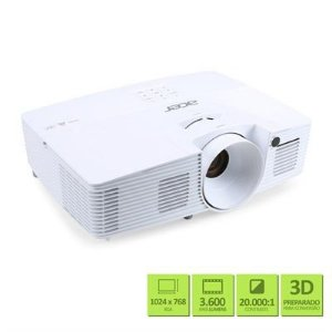 Projetor Acer X127h / DLP / XGA / 3.600 Lumens / USB (Mini-b) / VGA / Hdmi / Branco