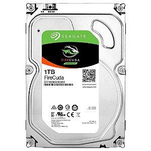 HD 1TB SSHD Seagate Híbrido 8GB SSD FireCuda 7200RPM 64MB Cache SATA 6,0Gb/s - ST1000DX002