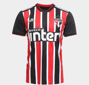 Camisa São Paulo II 18 19 S Nº Torcedor Adidas Masculina Listrada c3af92f986e58