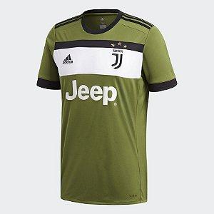 Camisa Juventus Third 17 18 - S N Torcedor Adidas Masculina - Verde Militar 77fd54c343fa4