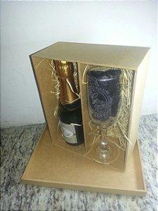 Kit Champagne  e Taça