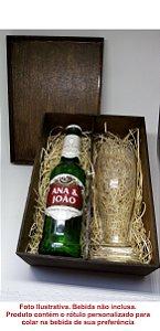 Caixa Convite de Padrinho com Tulipa de Cerveja