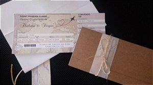 Convite Passagem Aérea