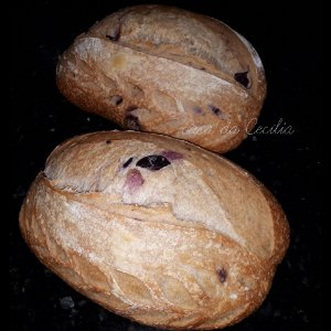 Pão Integral de Azeitonas com Fermento Natural