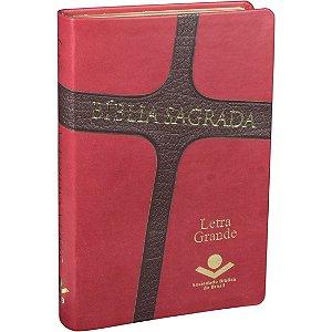Bíblia Sagrada Letra Grande Cruz Sbb
